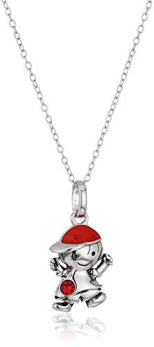Birthstone Boy Pendant (Hallmark Jewelry Sterling Silver July Birthstone Boy Pendant Necklace)