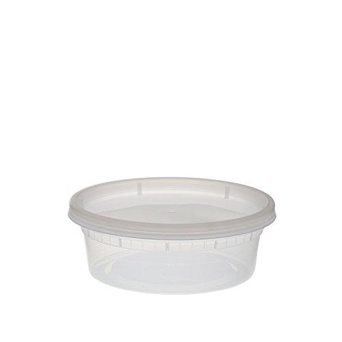 Tripak Premium Round Clear Plastic Deli Container with Lid,