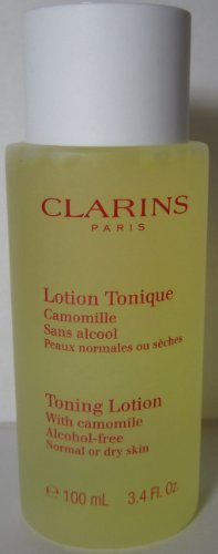 (Clarins Toning Lotion Alcohol Free with Camomile Dry Normal Skin 100ml/3.4 Oz)