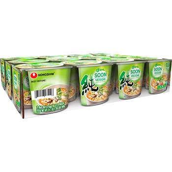 Nongshim Soon Veggie Noodle Soup, 2.64 oz, 12 ct ()