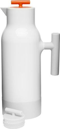 Sagaform 5016465 Café Accent Hot or Cold Vacuum Beverage Pot, White, 34 Oz.