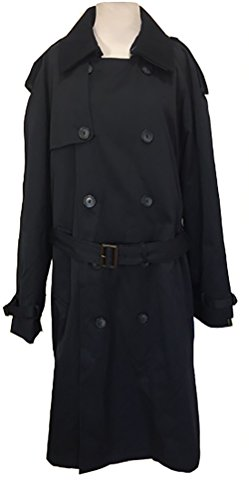 - Ralph by Ralph Lauren Men's Full Length Double-Breasted All Year Round Belted Raincoat (38 Regular, Black)