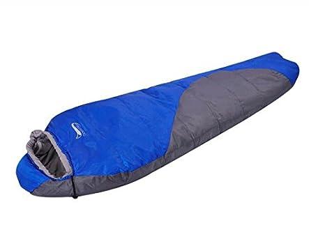 SHUIDAI Saco de Dormir Momia Otoño e Invierno Espesado Conservación de Calor Interior Súper Ligero portátil Acampar al Aire Libre, Blue: Amazon.es: Deportes ...