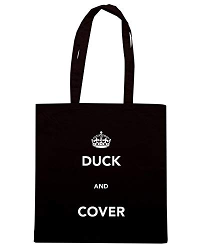 Speed Shirt Borsa Shopper Nera TKC3696 DUCK AND COVER