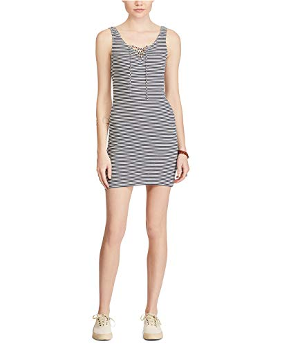 Polo Ralph Lauren Denim & Supply Ralph Lauren Striped Lace-Up Dress (Montauk Stripe Blue, S)
