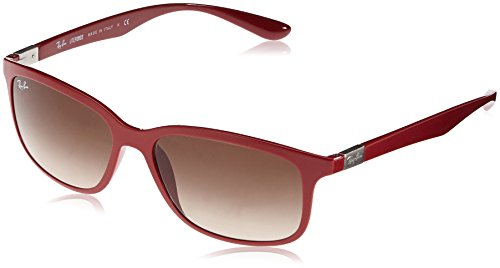 Ray-Ban 4215 612613 Amaranth 4215 Liteforce Rectangle Sunglasses Lens - Ray Liteforce Red Ban