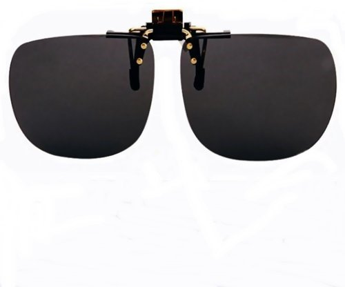 dc77309130 Image Unavailable. Image not available for. Color  Polycarbonate Clip on Flip  up Super Dark Sunglasses Non-Polarized ...