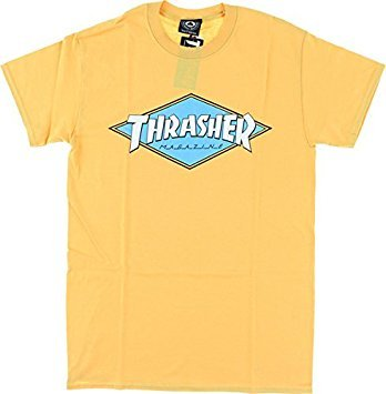 Buy Thrasher Diamond Honey Yellow Small T Shirt Online At Low Prices