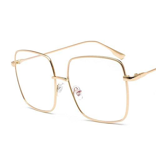 Aoligei Plat transparent le grand cadre de miroir carré rétro lunettes de soleil Fashion Street tirer lunettes de soleil film océan H