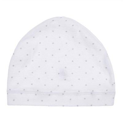 Bonnet Naissance Bébé en coton PETIT BATEAU Blanc Taille  3/6 mois NEUF