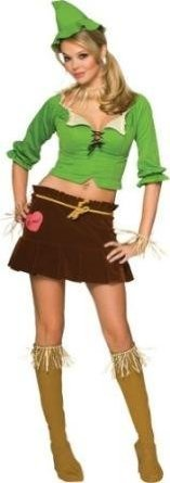 [Women Small (6-9) Scarecrow Costume] (Cute Scarecrow Costumes)
