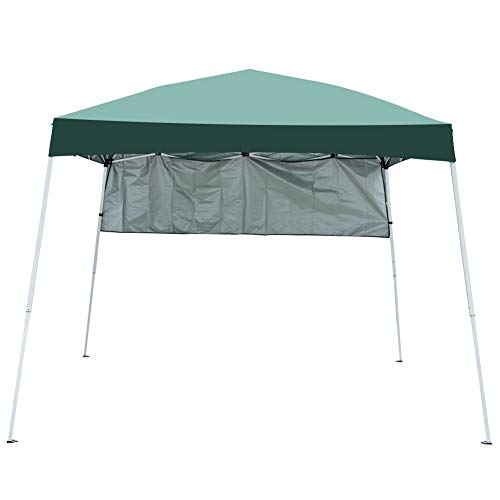 Sundale Outdoor 8 x 8 FT Heavy Duty Pop Up Canopy Waterproof UV-Protected Gazebo Portable Instant Shade Folding Shelter Patio Wedding Party Tent with Carrying Bag (Green)