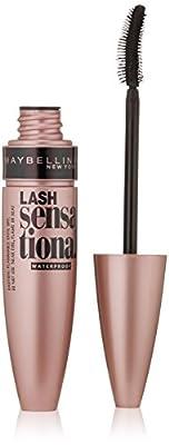 Maybelline New York Lash Sensational Mascara, Waterproof Very Black, 0.3 Fluid Ounce (packaging may vary)