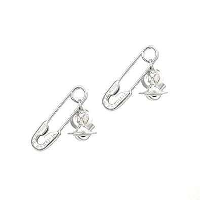889baa171 Vivienne Westwood Sterling Silver Jubilee Earrings Silver: Amazon.co.uk:  Jewellery