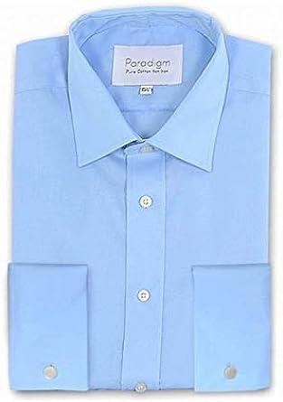 Paradigm Hombre Algodón Premium Doble Puño No Hierro Camisas Formales (8501) en Cuello Talla 14.5 a 23, Varias Opciones: Amazon.es: Ropa y accesorios