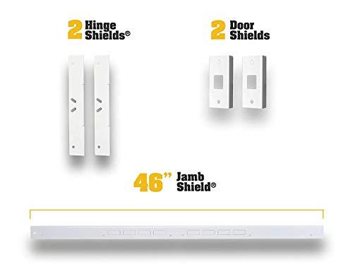 Door Armor MAX – Complete Door Reinforcement Set For Jamb, Frame, Strike Plate — DIY Home Door Security – White by Armor Concepts (Image #1)