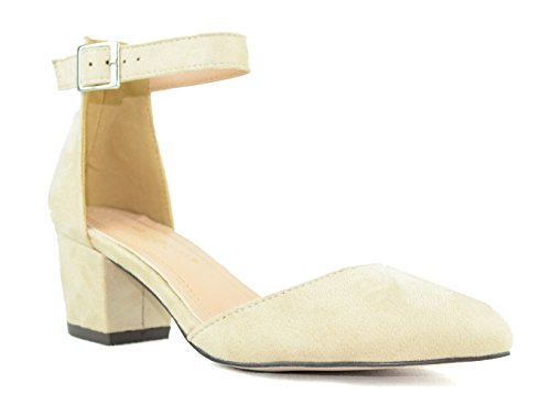 Nude amp; Chunky Chloe Heel DOrsay Toe Chase Shoes 1 Pointy Pump Womens Jason U4TnwSqS7