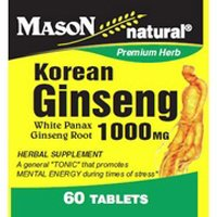 Mason natural korean ginseng 1000 mg white panax ginseng root herbal supplement capsules - 60 ea - Korean White Ginseng