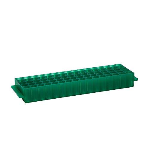 80-Well Tube Rack, Green, Polypropylene, 5 ()