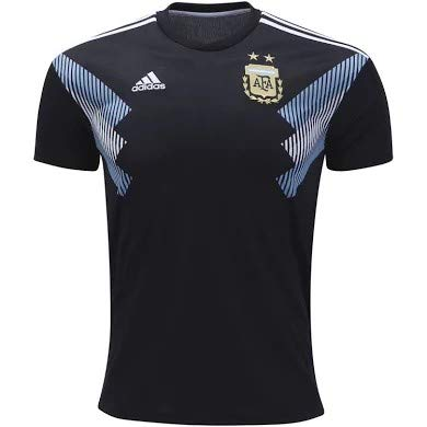 Argentina Soccer Shirt - adidas Men's AFA Argentina Away Jersey (X-Large) Black/Clear Blue/White
