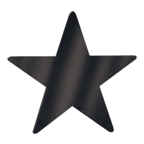 Beistle 55838-BK 36-Piece Foil Star Cutouts, 9-Inch