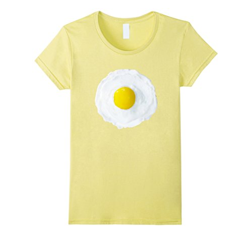 Sunny Side Up Costume (Womens Fried Egg Costume Easy Halloween Matching T-shirts Family XL Lemon)