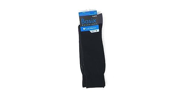 Punto Blanco - Pack x3 Calcetines Hombre BASIX PUNTO BLANCO - NEGRO, U: Amazon.es: Ropa y accesorios