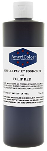 TULIP RED 13.5 Ounce Soft Gel Paste Food Color by AmeriColor