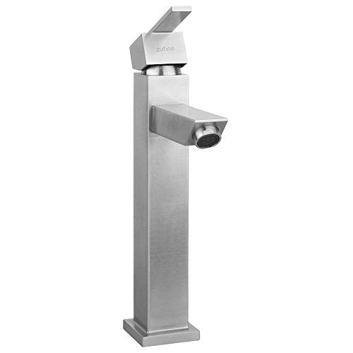 Stainless Bathroom or Lavatory Water Saving Deck Mount Singl