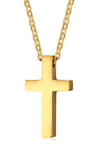 Stainless Steel Dainty Cross Necklace (Gold Plated) - 9
