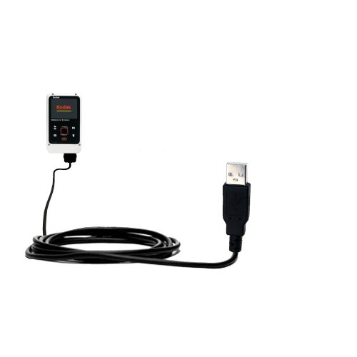 6303 Classic Mobile (Classic Straight USB Cable for the Kodak Playfull Ze2 with Power Hot Sync and Charge Capabilities - Uses Gomadic TipExchange Technology)
