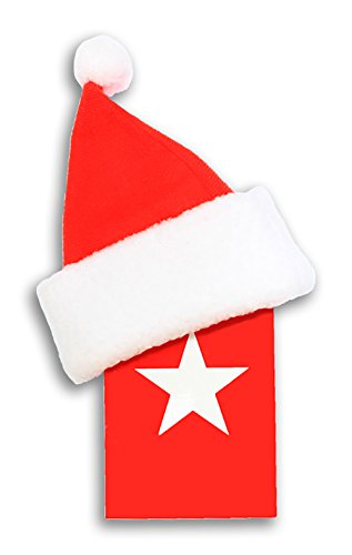 Give-A-Gift Gift Card Holders with Red Santa Hat (Set of 12)
