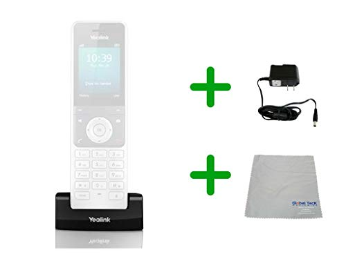 Yealink W56P Wireless DECT Phone Charging Dock| Includes Power Supply| Microfiber Cloth#YEA-W56P-DOCK-B by Global Teck Worldwide