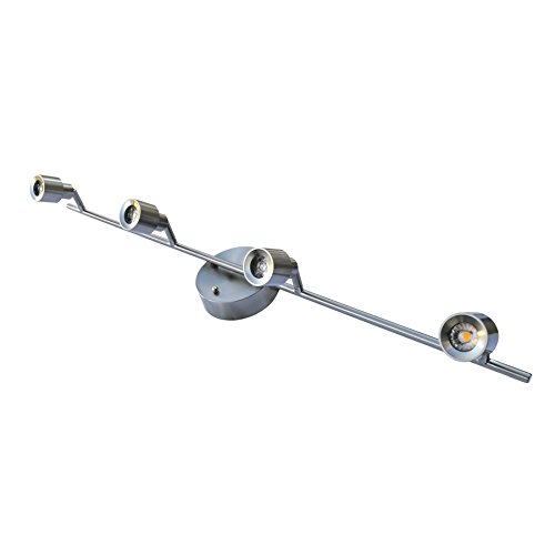 HomeSelects 7520 20W Led Dimmable 4 Light Track Light - Brushed Nickel 20W Led Dimmable 4 Light Track Light - Brushed Nickelbrushed Nickel