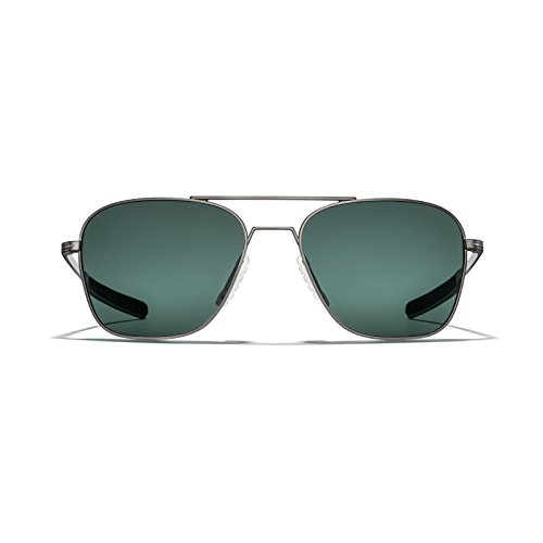 ROKA Falcon Ti Performance Polarized Aviator Sunglasses for Men and Women Gunmetal Frame - Ranger (Polarized) - Lenses Ranger