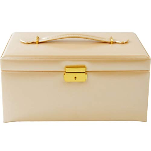 - YZ-YUAN Multi-Layer Jewelry Box, Large Capacity Jewelry Storage, with Lock, European Princes Style, as Travel Birthday Married Gift,C