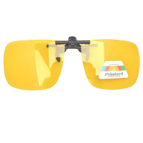 fc485a4d4c Eyekepper Large Polarized Flip up Sunglasses Clip on Yellow - Import ...