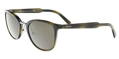 Prada U6A5S2 Dark Green Tortoise 22SS Wayfarer Sunglasses Lens Category 3 - Wayfarer Prada
