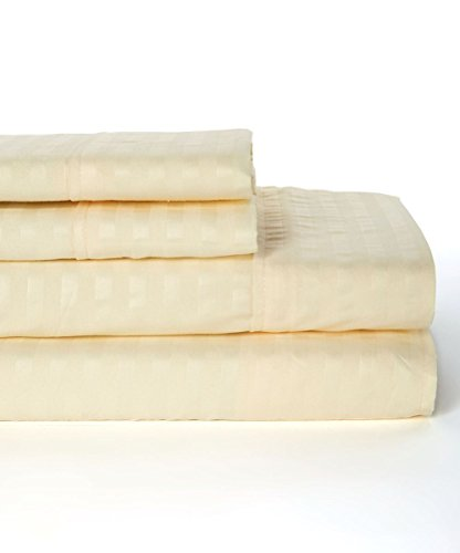 1800 Egyptian Comfort 4 Pieces deep Pocket Bed Sheet Set King Sizes/Color Vanilla (Vanilla Chenille Blanket)