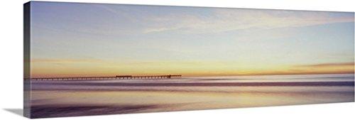 Luc Lavergne Premium Thick-Wrap Canvas Wall Art Print entitled Sunset At Ocean Beach, San Diego, California (Outdoor Furniture San Diego California)