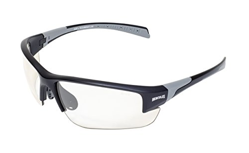 Global Vision Eyewear 24 Hercules 7H Black Safety Sunglasses, Photochromic Clear to Smoke Lens, Black Frame