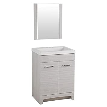 Beau Glacier Bay T24P3 EK Stancliff Bath Vanity In Elm Sky With Cultured Marble  Vanity Top