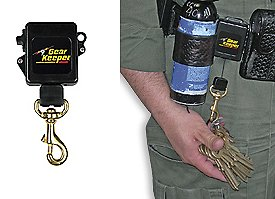 Gear Keeper High Security Key Retractor Clamp-On Rotating Belt Clip Police Corrections Emergency Equipment Gear Guard Authorized Dealer GSA certified, RT3-5826 (28