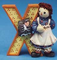 (Raggedy Ann & Andy - Raggedy Ann and Andy - X Is For X-ray by Enesco - 856789X)