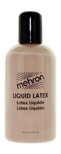 Special Effects Makeup Scars (Mehron Makeup Liquid Latex for Special Effects| Halloween| Movies – LIGHT FLESH- 9oz)
