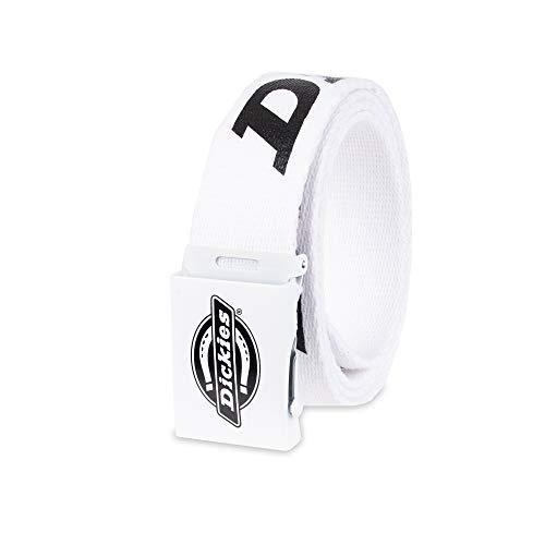 Dickies Men's Cotton Web Belt, White, One Size