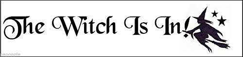 OutletBestSelling Stencil Halloween The Witch is in! Flying Witch Stars Sign Stencil -