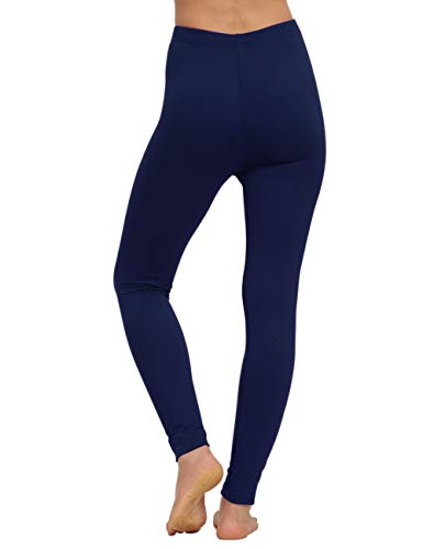 AUSELILY Leggings Doux Taille Haute pour Femmes Pantalons Leggings Slim Confortables