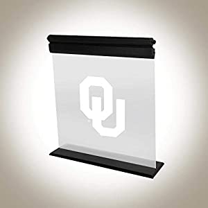 OKLAHOMA SOONERS ACRYLIC LED LIGHT DISPLAY MAN CAVE OFFICE