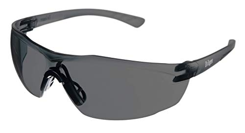Drӓger X-pect 8321 Protective Eyewear, ANSI Approved, 10 Pack, Anti-Scratch, Anti-Fog, Break-Resistant Safety Glasses, UV Protection, Smoke Lenses